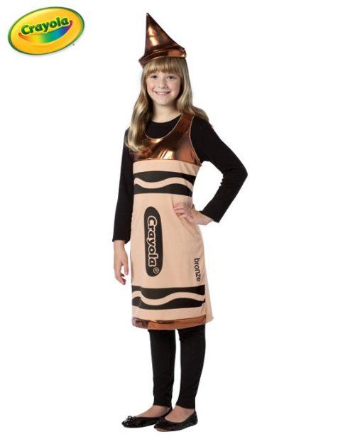 Tween Crayola Crayon Costume - Bronze