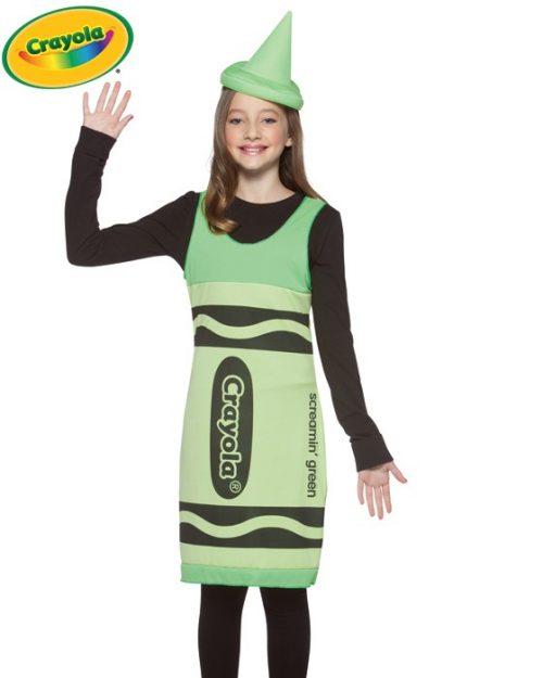 Tween Green Crayola Costume Dress