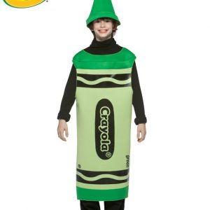Tween Green Crayola Crayon Costume