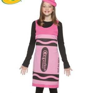 Tween Pink Crayola Crayon Costume Dress