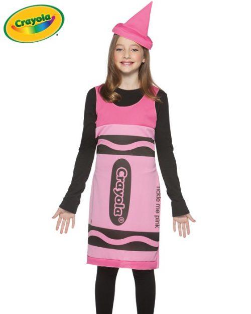 Tween Pink Crayola Crayon Costume Dress