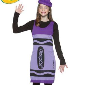 Tween Purple Crayola Crayon Costume Dress