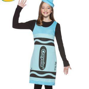 Tween Sky Blue Crayola Costume Dress