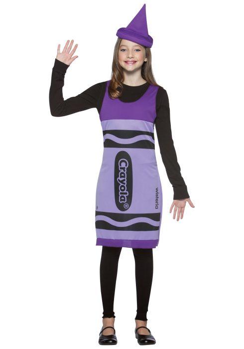 Tween Wisteria Crayon Dress