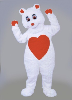 Valentine Bear Mascot Costume