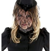 Victorian Small Black Top Hat