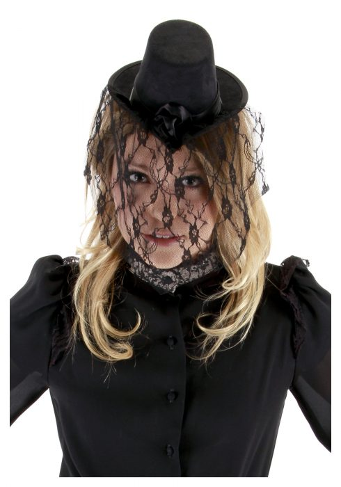 Victorian Small Black Top Hat