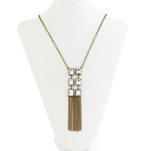 Vintage Brass Pendant Necklace