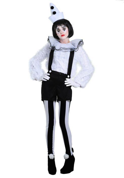Vintage Pierrot Clown Women's Costume