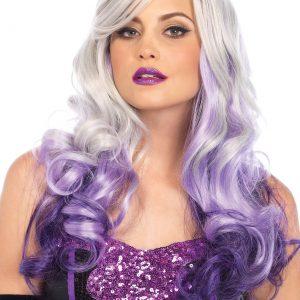 Wavy Grey/Purple Women's Ombre Wig