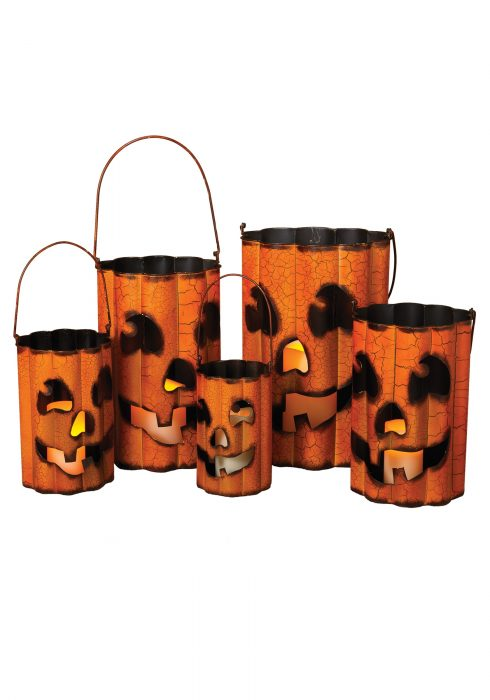 Wavy Metal Halloween Luminaries Set