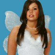 White Nylon Wings with Silver Glitter
