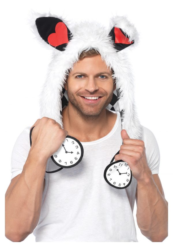 White Rabbit Furry Hood Hat