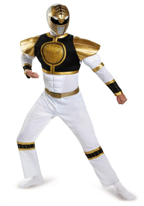 White Ranger Classic Plus Size Muscle Costume