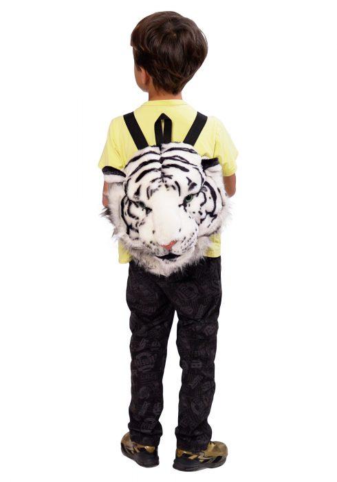White Tiger Animal Head Mini Backpack