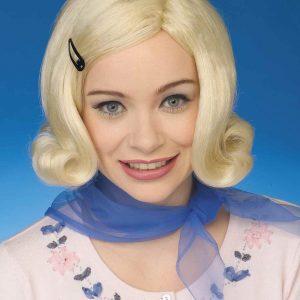 Womens 50s Bopper Blond Wig