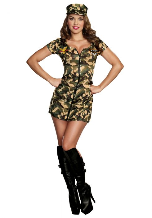 Women's Army Doll Costume