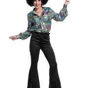 Women's Black Disco Pants
