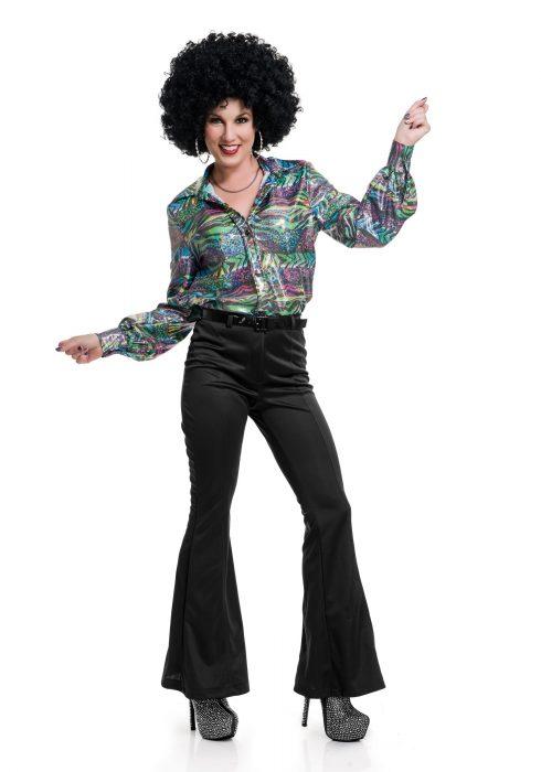 Women's Black Disco Pants