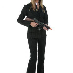 Women's Black Gangster Costume