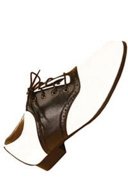 Women's Black and White Saddle Shoes