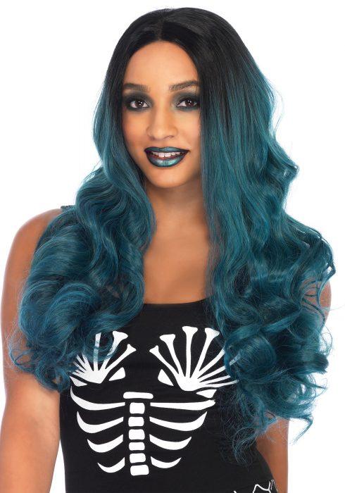 Women's Blended Two-Tone Long Wavy Wig