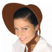 Women's Brown Felt Bonnet