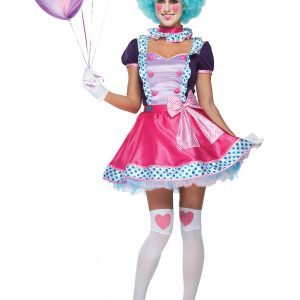 Women's Bubble Gum Clown Costume