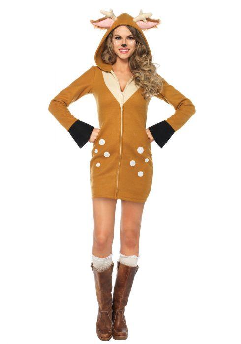 Women's Cozy Fawn Costume