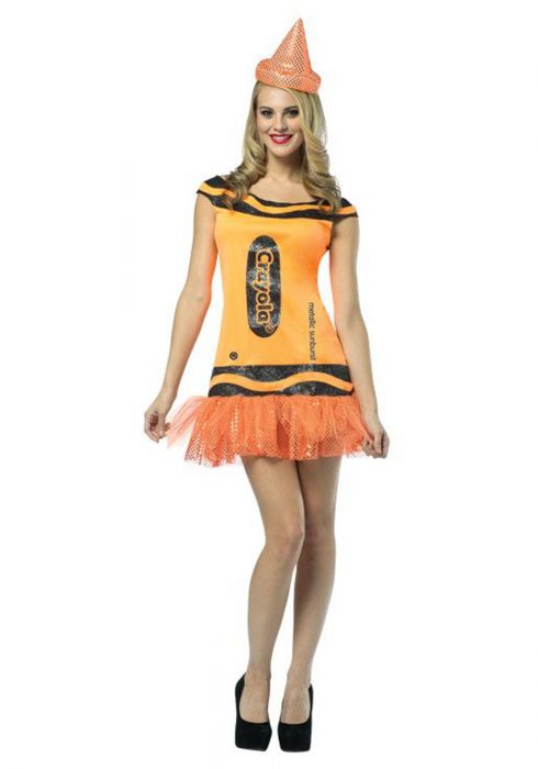 Women's Crayola Glitz Orange Dress
