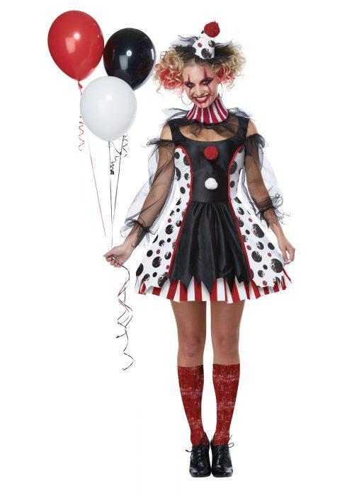 Womens Creepy Clown Costume