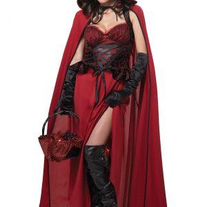 Womens Dark Red Riding Hood Costume