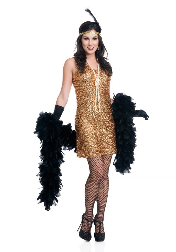 Womens Dazzling Darling Flapper Costume
