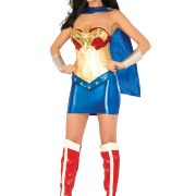Women's Deluxe Wonder Woman Corset Costume