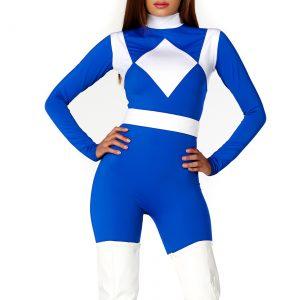 Women's Dominance Action Figure Blue Catsuit