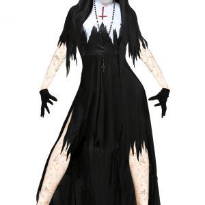 Women's Dreadful Nun Plus Size Costume