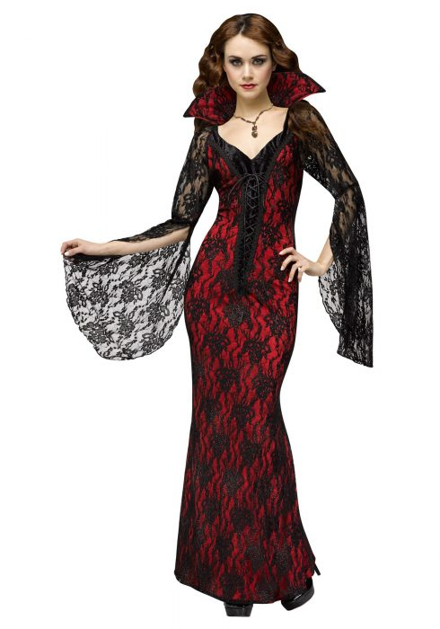 Womens Elegant Vampiress Costume