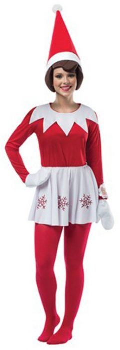 Women's Elf on the Shelf Costume Dress