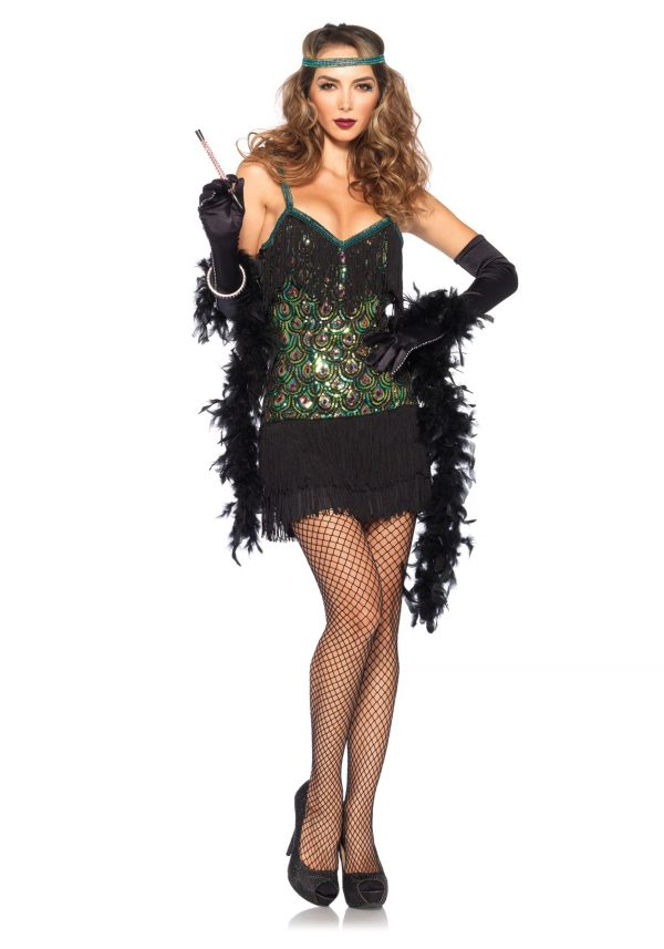 Women's Feathered Flapper Costume