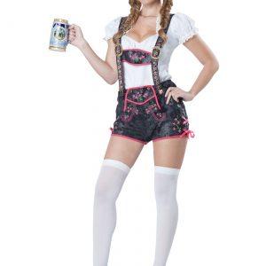 Women's Flirty Lederhosen Costume