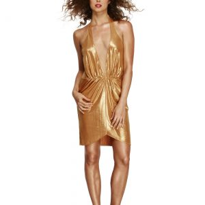 Women's Gold 70s Disco Diva Costume
