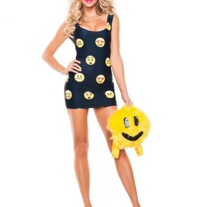 Women's Happyface Emoji Costume
