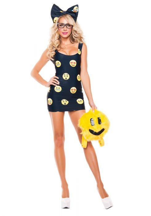 Women's Happyface Emoji Costume