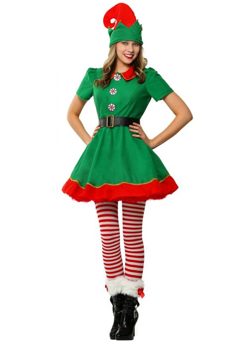 Women's Holiday Elf Plus Size Costume
