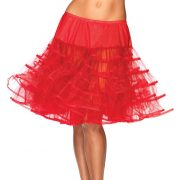 Women's Knee Length Red Petticoat