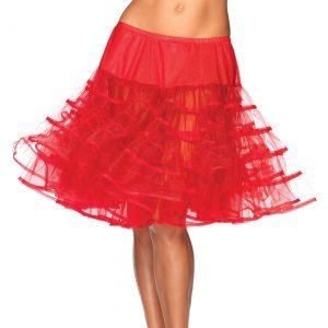 Women's Knee Length Red Petticoat