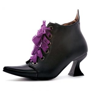 Womens Lace Up Witch Shoes