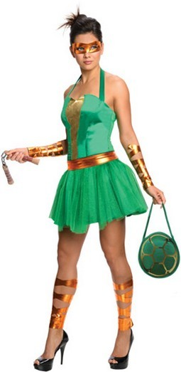 Women's Michelangelo TMNT Costume