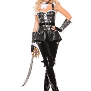 Women's Noir Pirate Costume