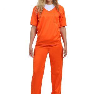 Women's Orange Prisoner Costume